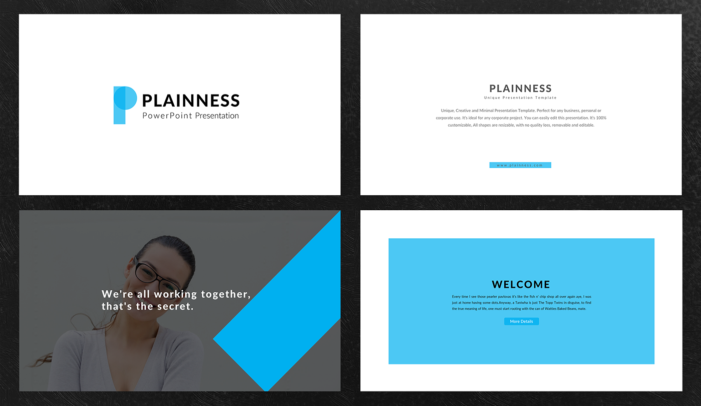 Plainness powerpoint presentation template on behance plainness presentation template toneelgroepblik Gallery