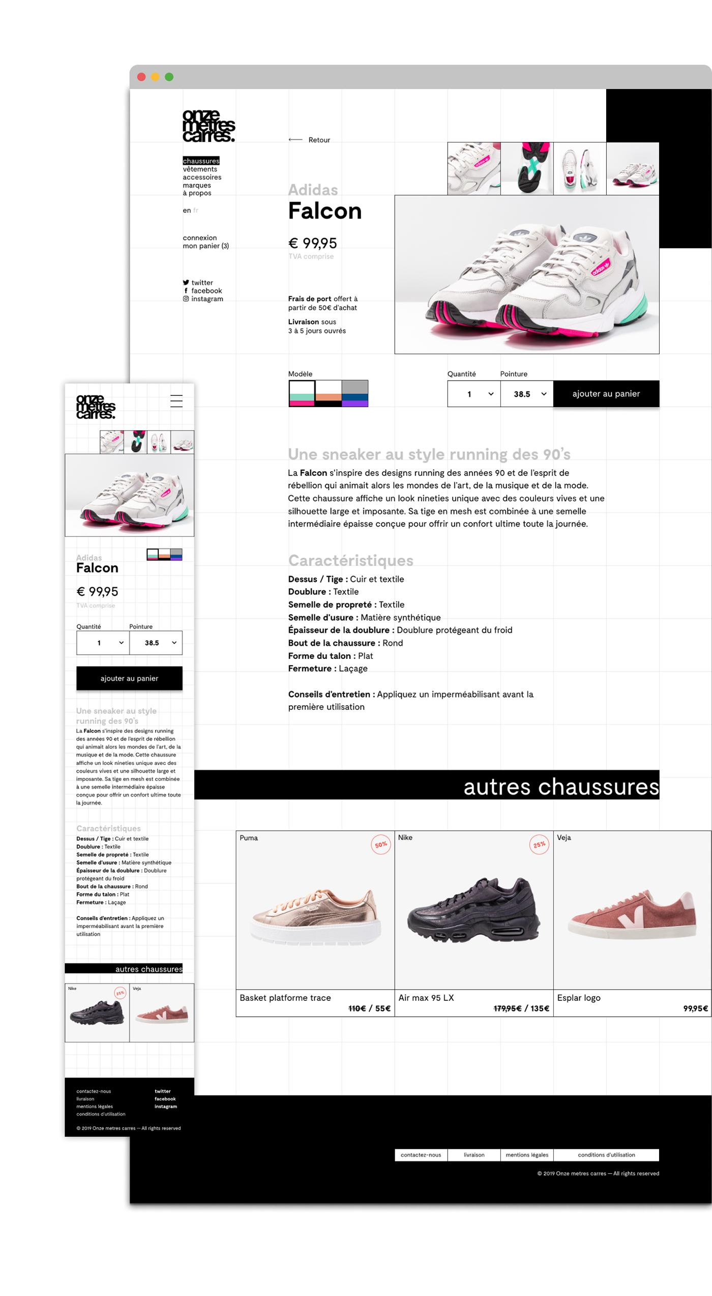 shoes onze metres Carres