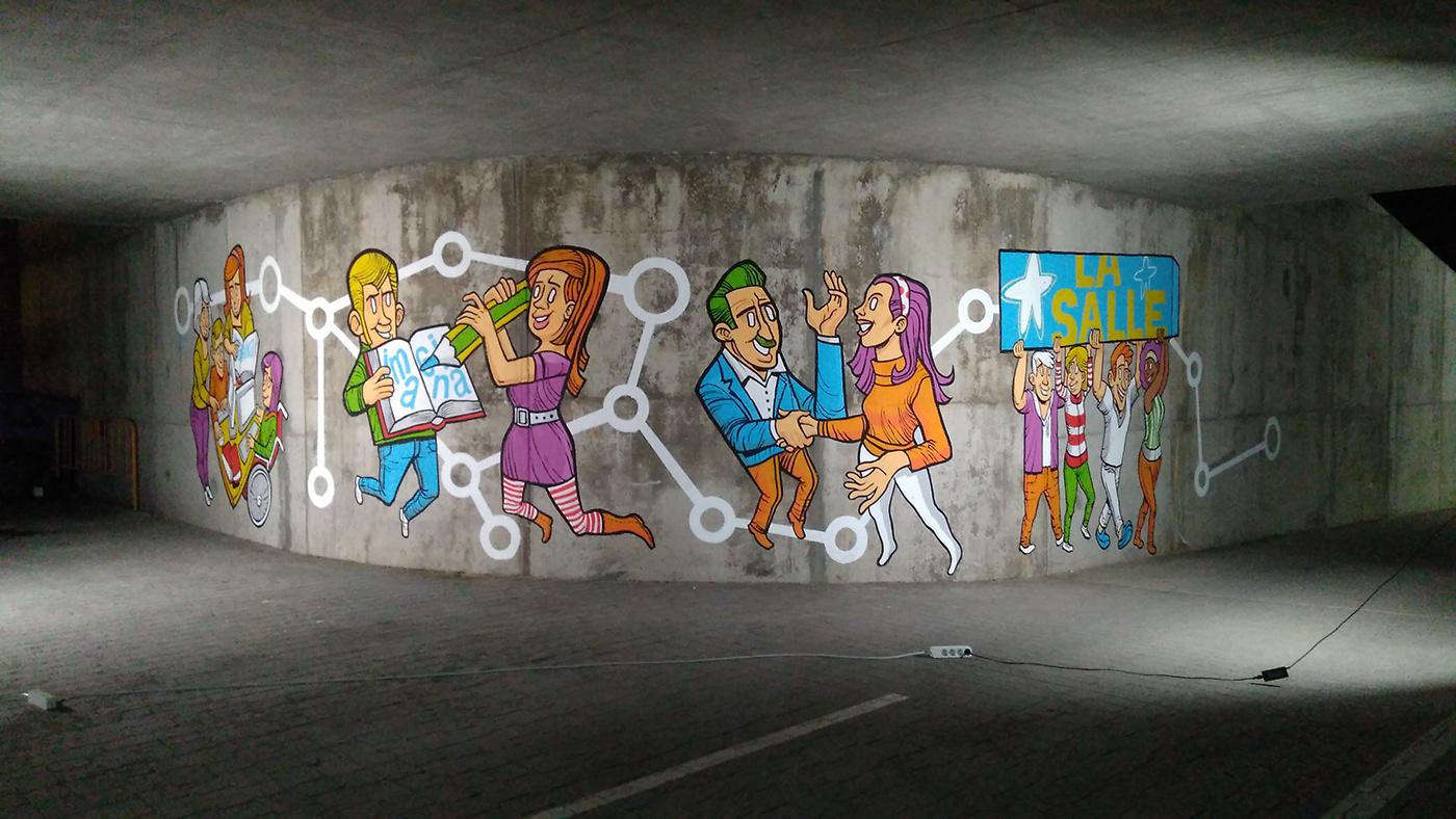 Mural school University concrete arte urbano urban art wall art
