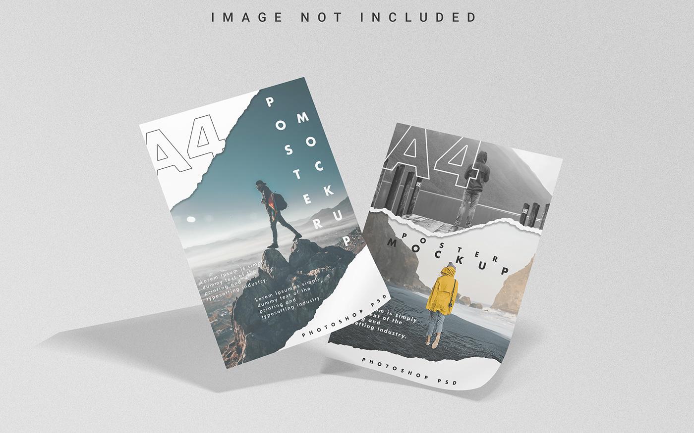 a4 creative flyer free free mockup  Mockup paper poster Print Mockup