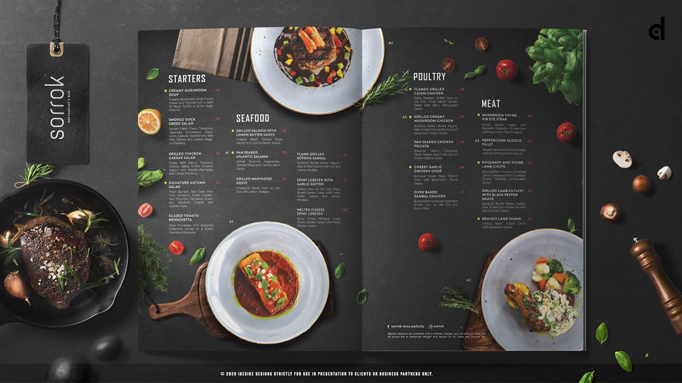 Image may contain: menu, indoor and food