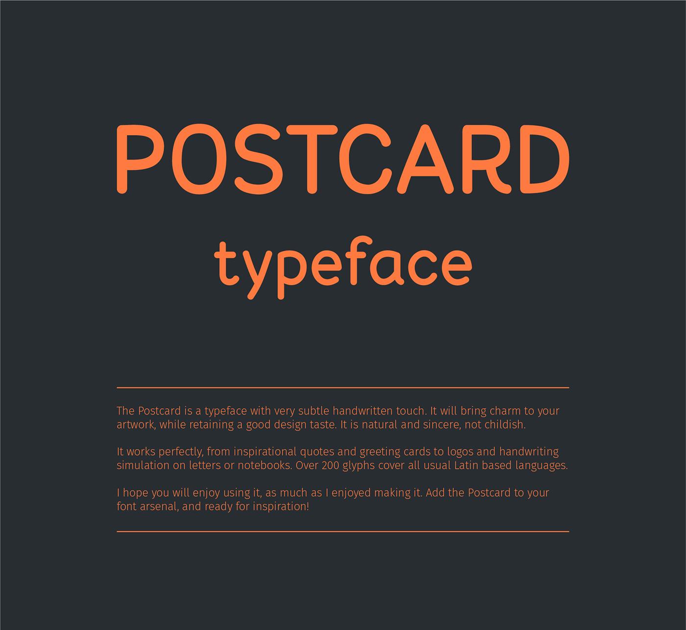 Postcard font on behance m4hsunfo