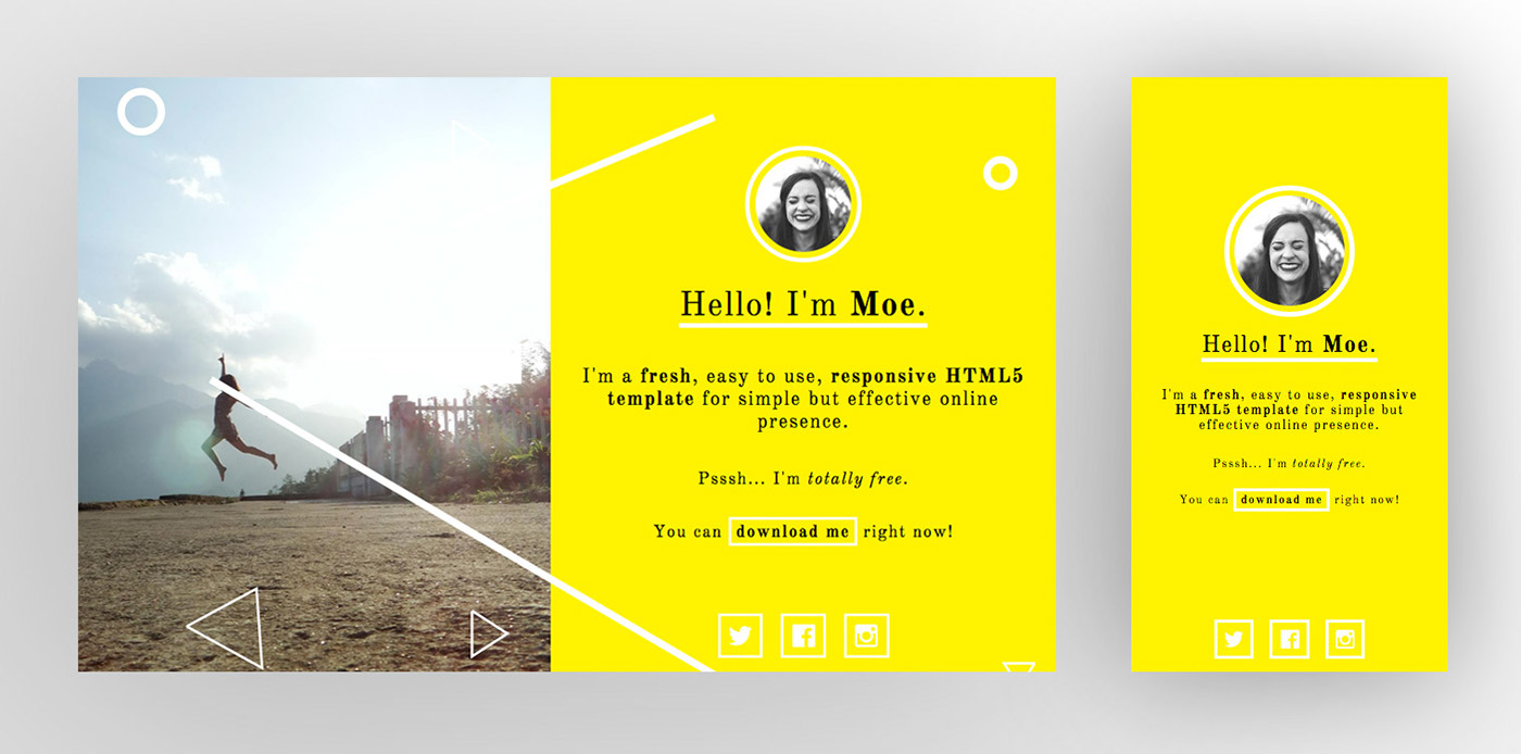 HTML css template free Responsive UI