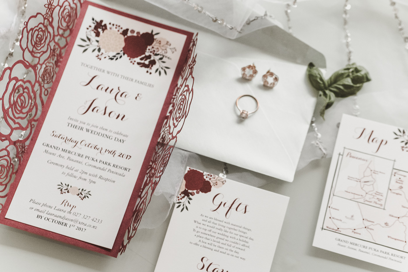 Burgundy Wedding Invitation Suite on Behance