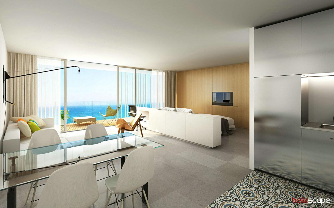 architectural visualization 3D Rendering Interior hotel architecture