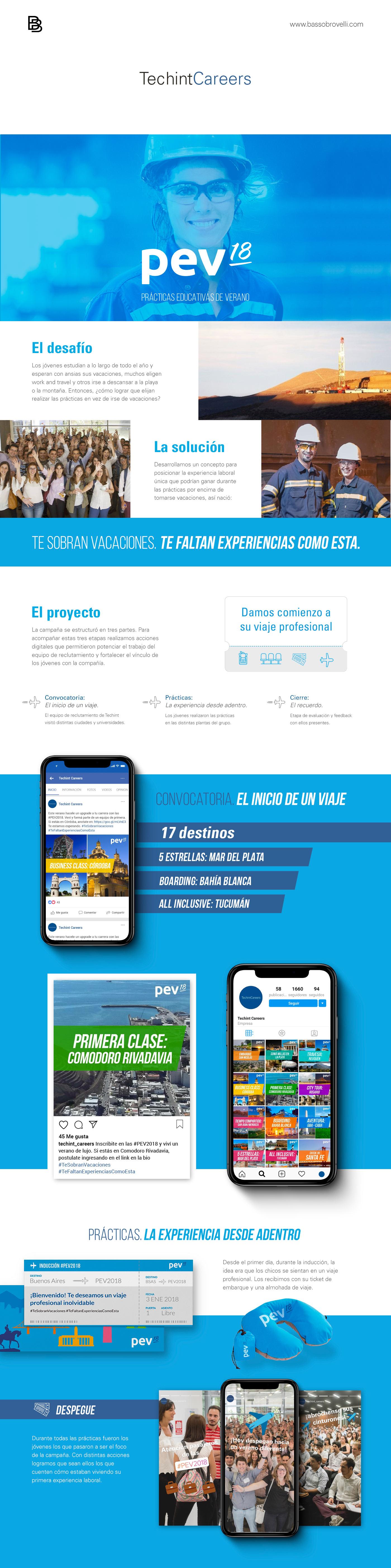 Campaña de Verano techint social media post concept desing facebook Travel