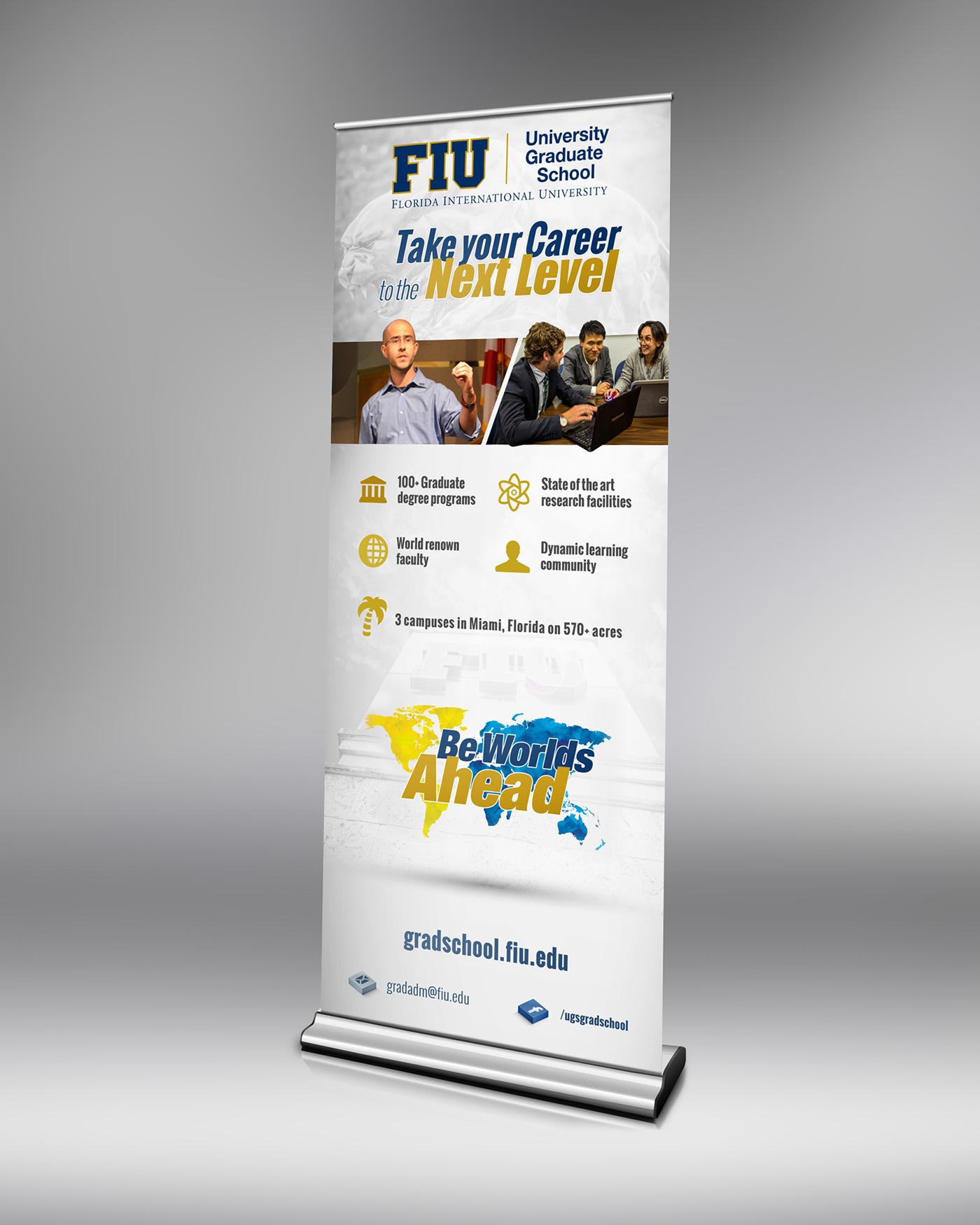 FIU Graduate School Recruitment Banner on Behance