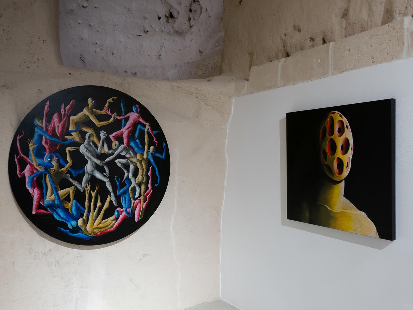 Image may contain: wall and art