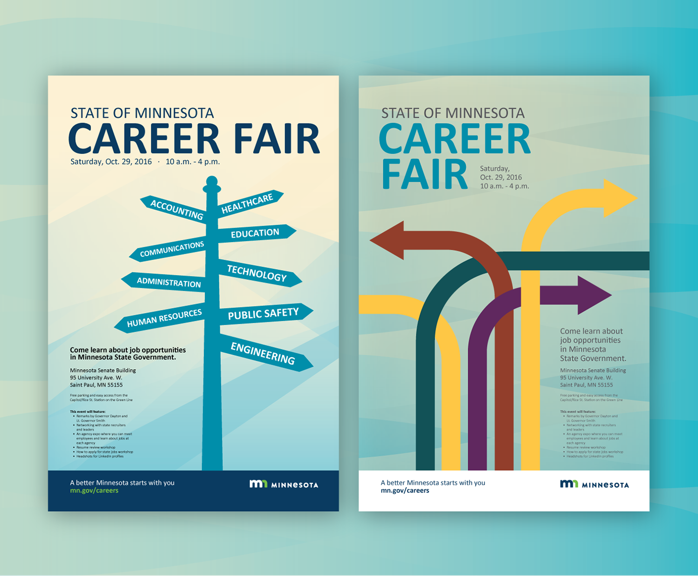 career fair posters on behance