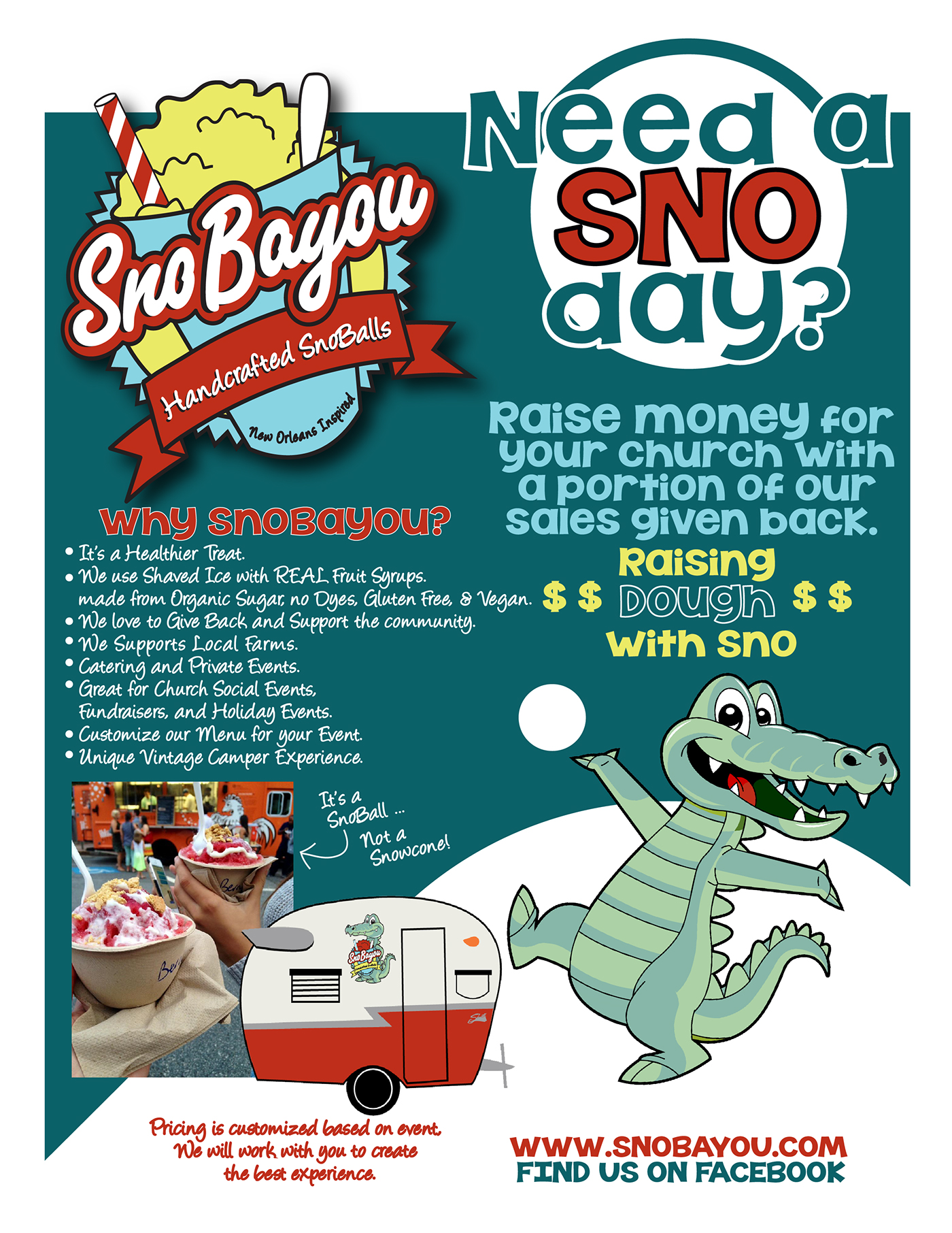 Marketing Flyers For Snobayou Food Truck On Behance