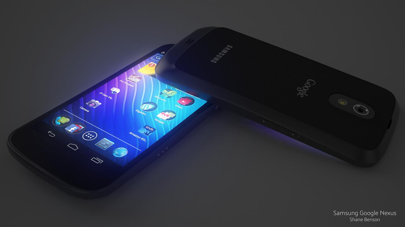 3D Samsung google nexus verizon phone c4d cinema 4d