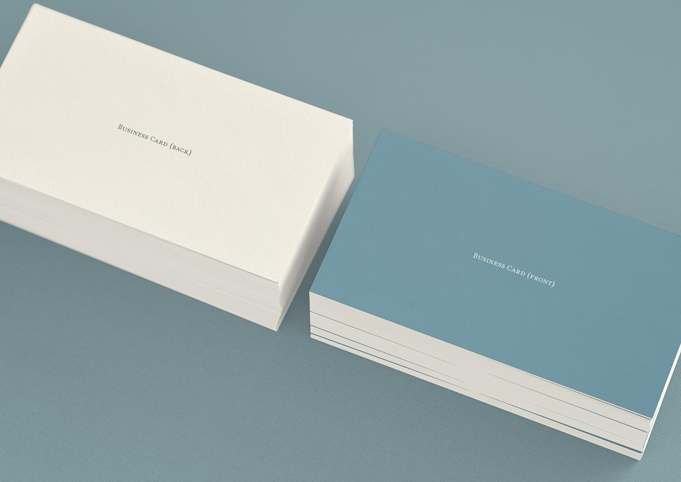 PolarWhite stationery by JHåland - Free Mockup on Behance