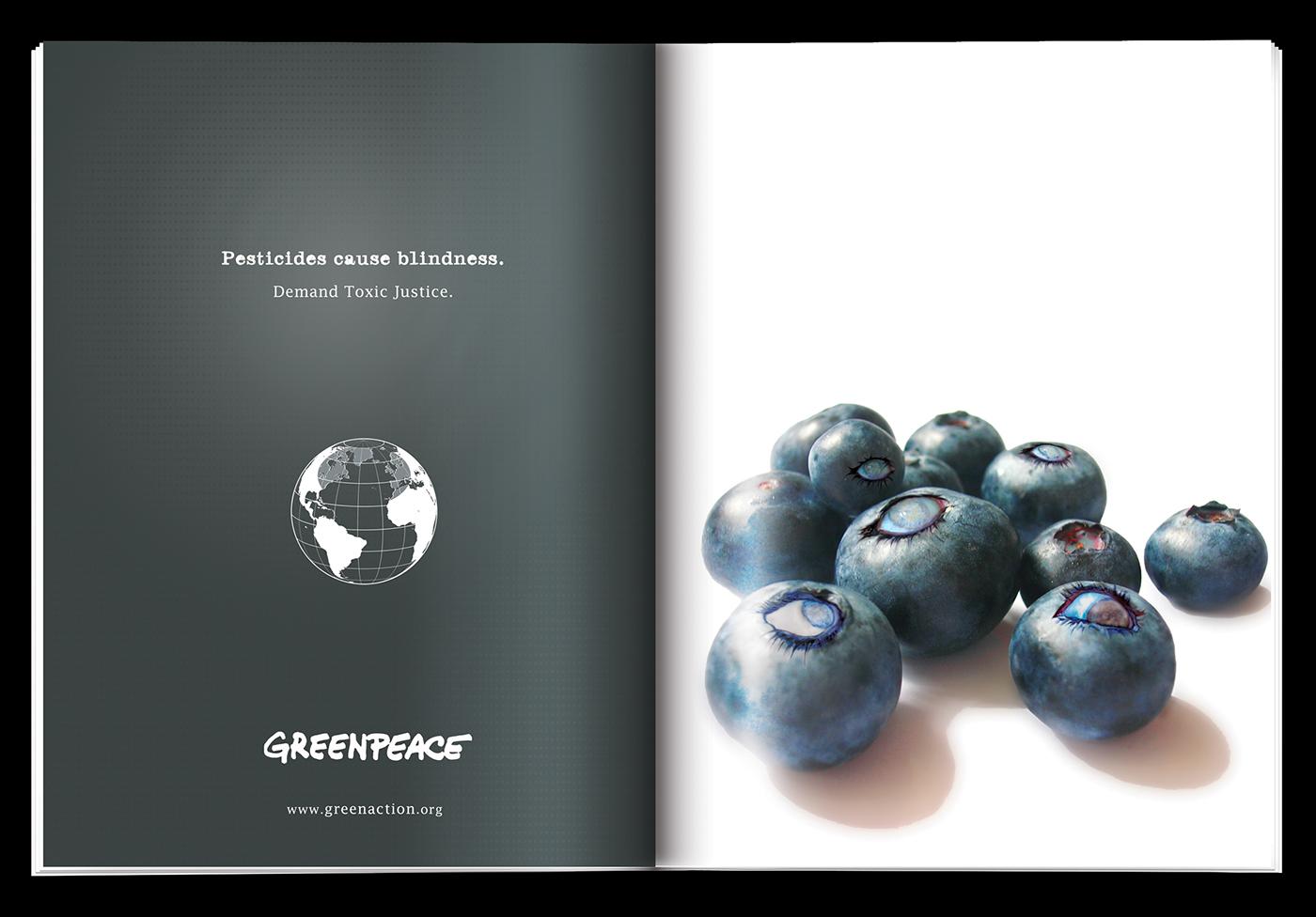 retouching  graphic design  magazine ad Greenpeace art direction  art strange surreal rick betancourt