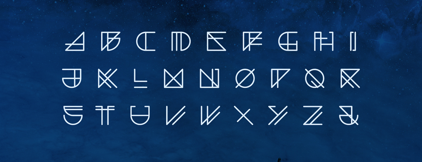 font free type typography   Space  futuristic FUTURISM experimental linear geometric
