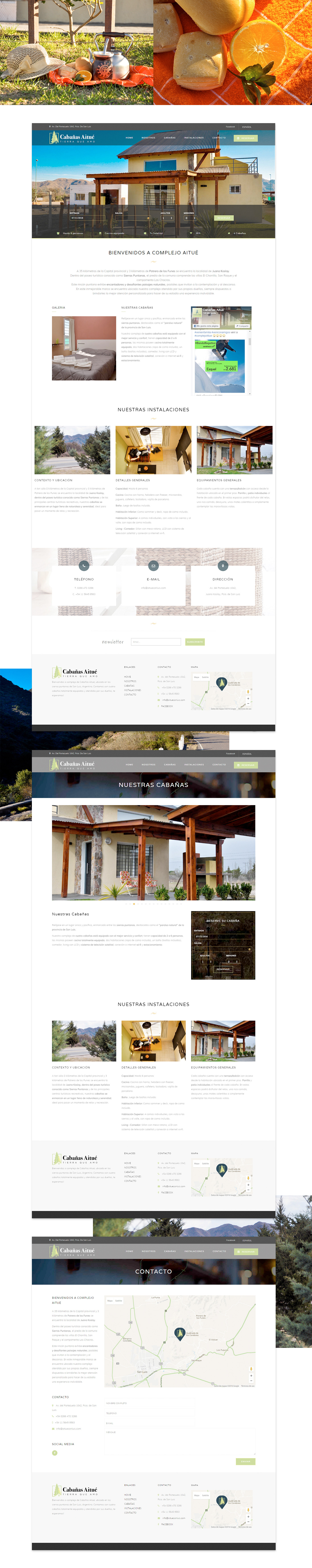 branding  identity design Web Design  Responsive Design hotel argentina san luis