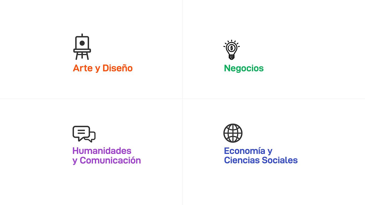 brand branding  college diseño graphic design  logo Logotype strategy typography   University