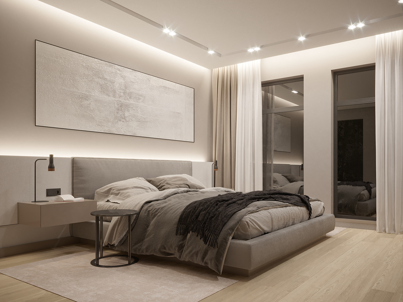 Minimalist bedroom | Interior Design on Behance