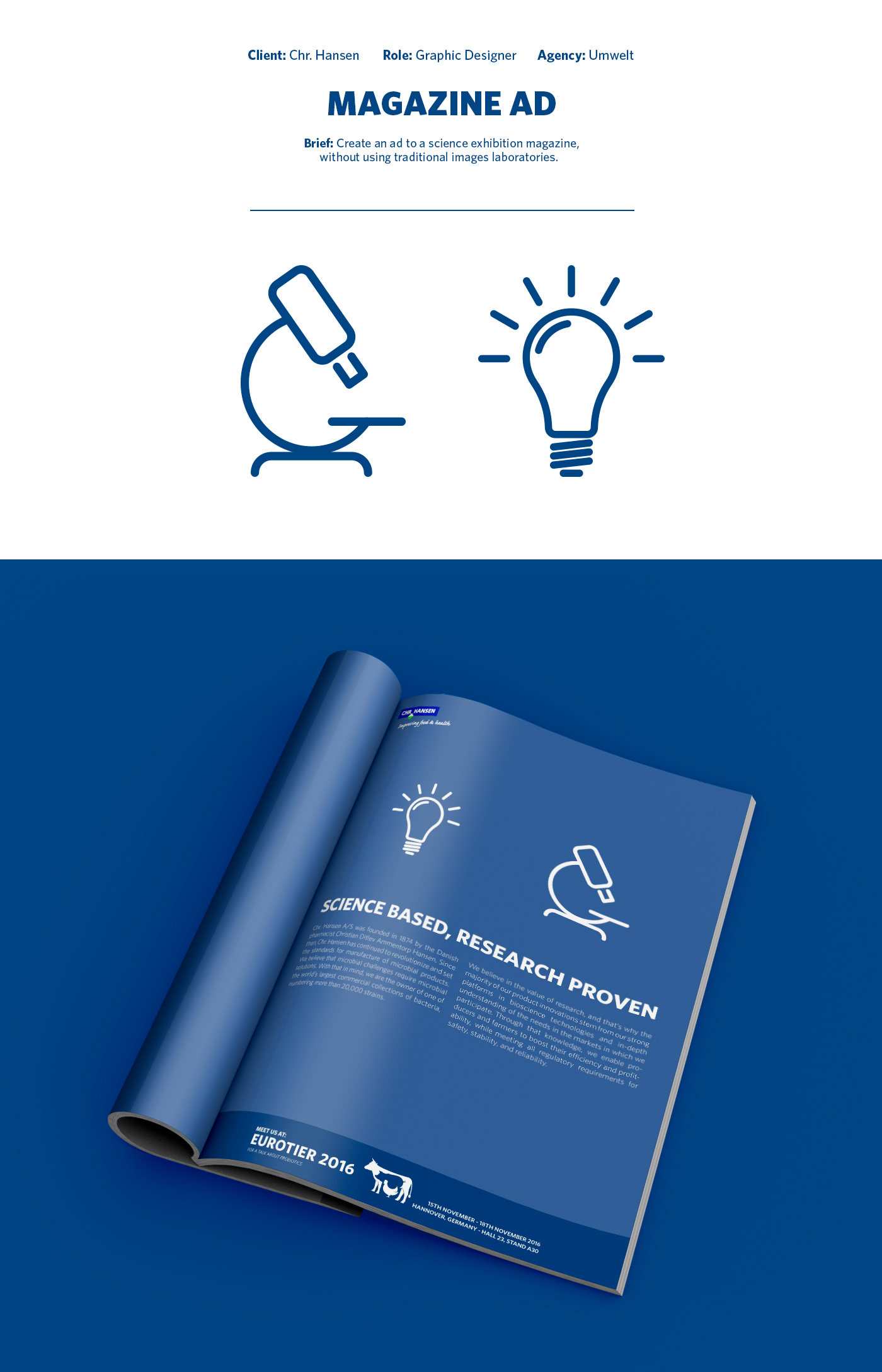print design  graphic design  science magazine Magazine Ad