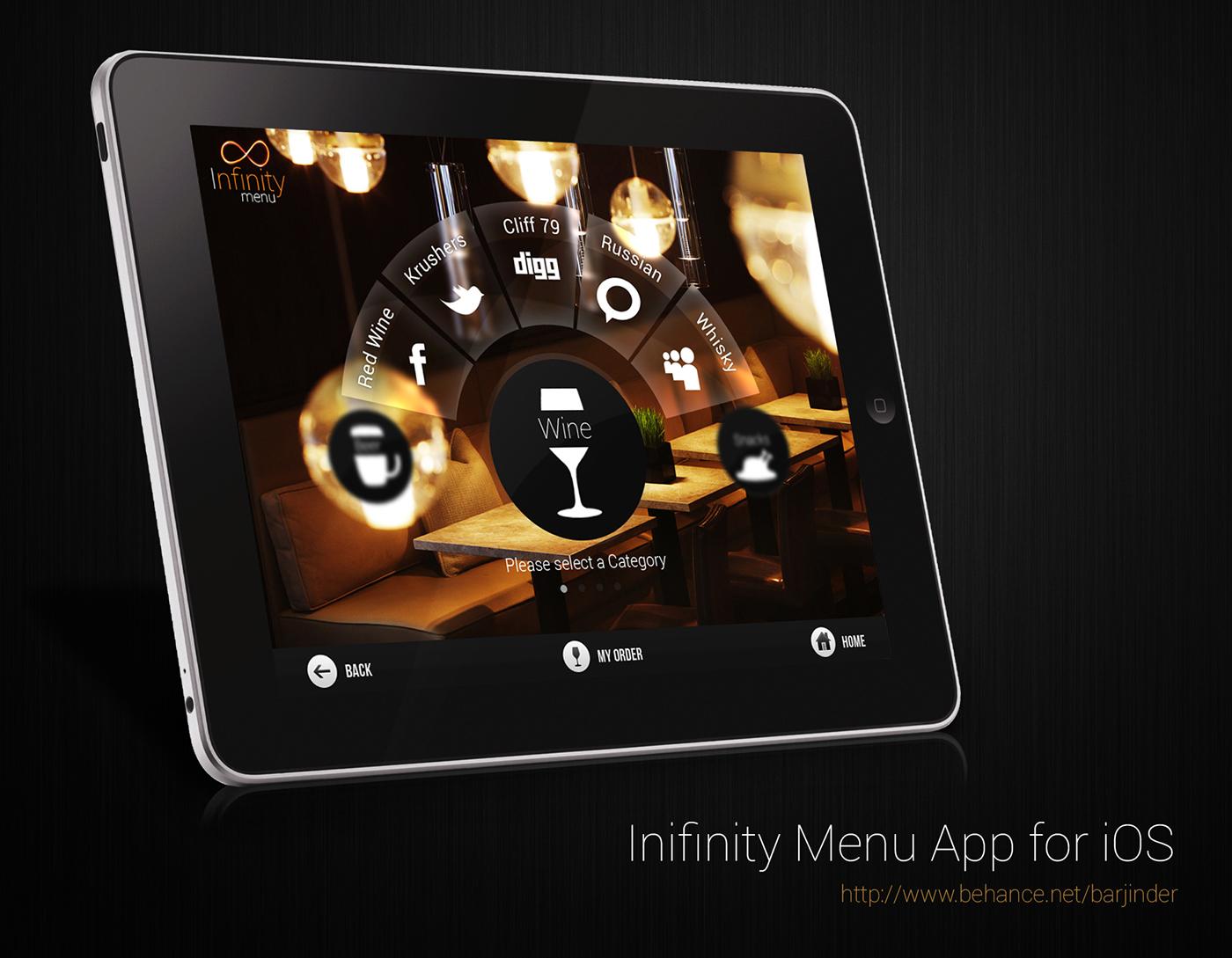 Infinity menu app for ipad on behance