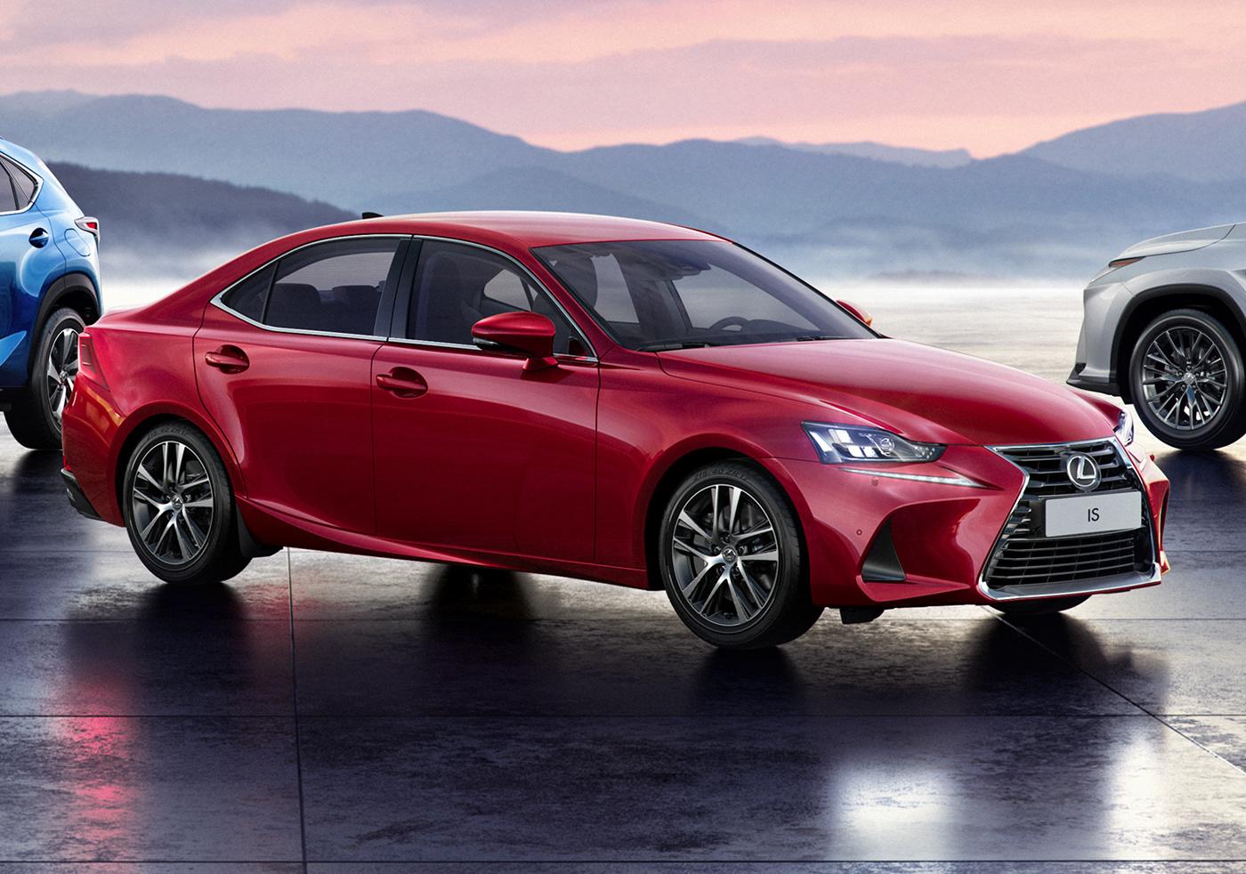 CGI Lexus corona Render advertisement
