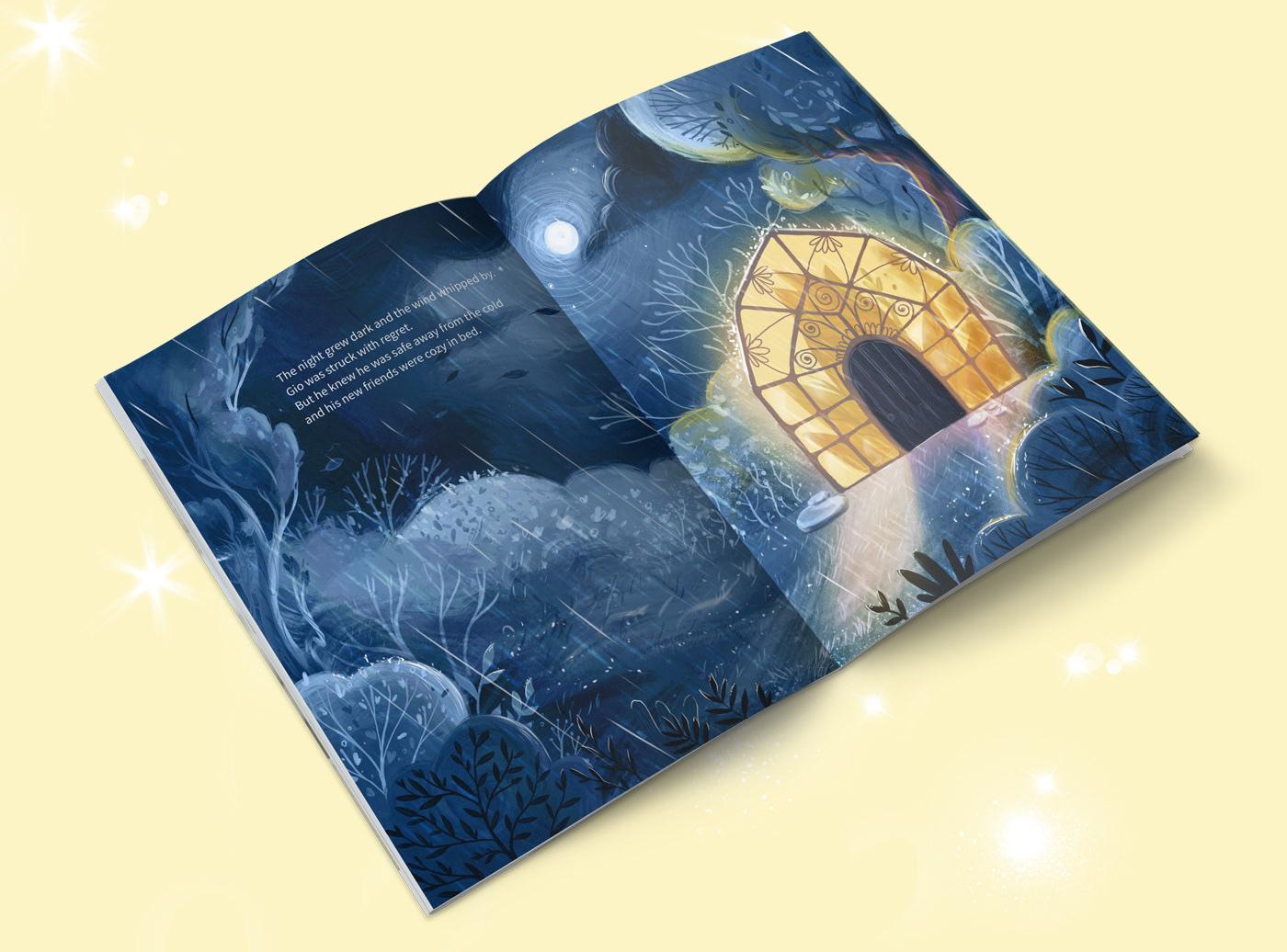 boy children's book Flowers friendship frog garden Nature personage design  Picture book