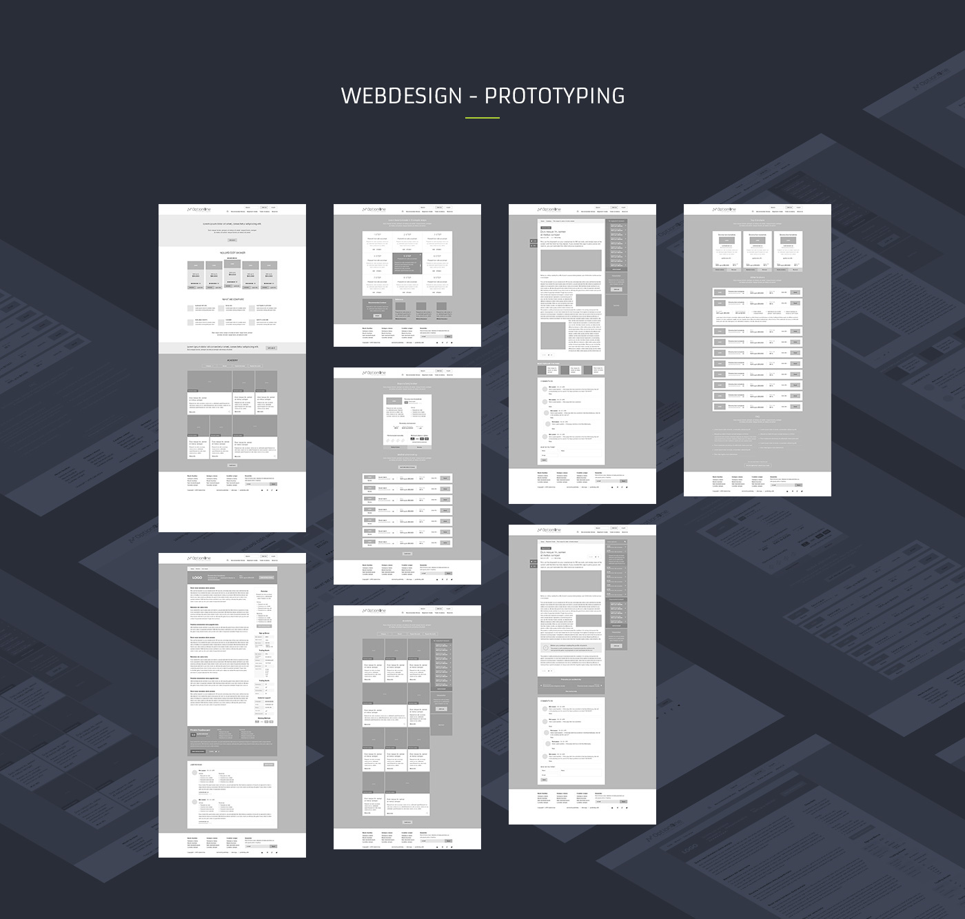 ux Website site option One modern flat dark binary Original Layout