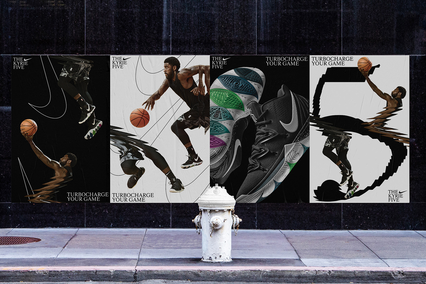 Nike kyrie irving kyrie 5 nike basketball The New Company design system Glitch typography