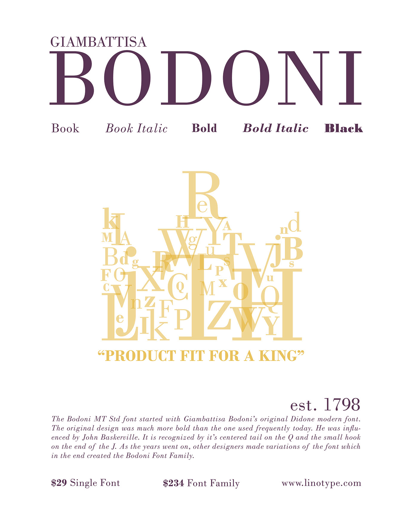 Bodoni MT Std Font Poster On Behance