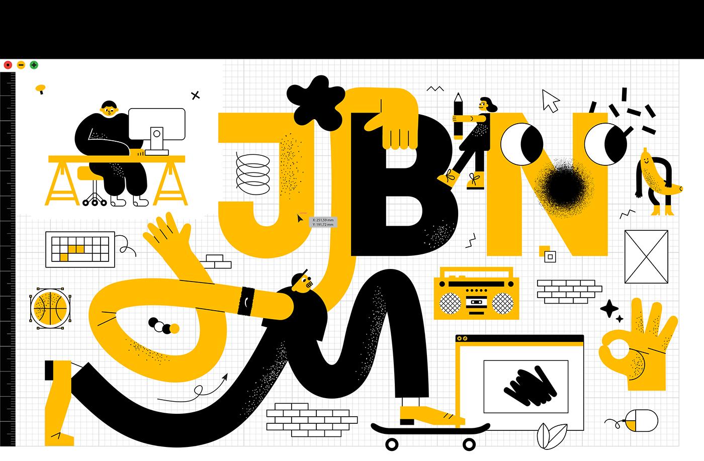 ILLUSTRATION  jbn Character design studio