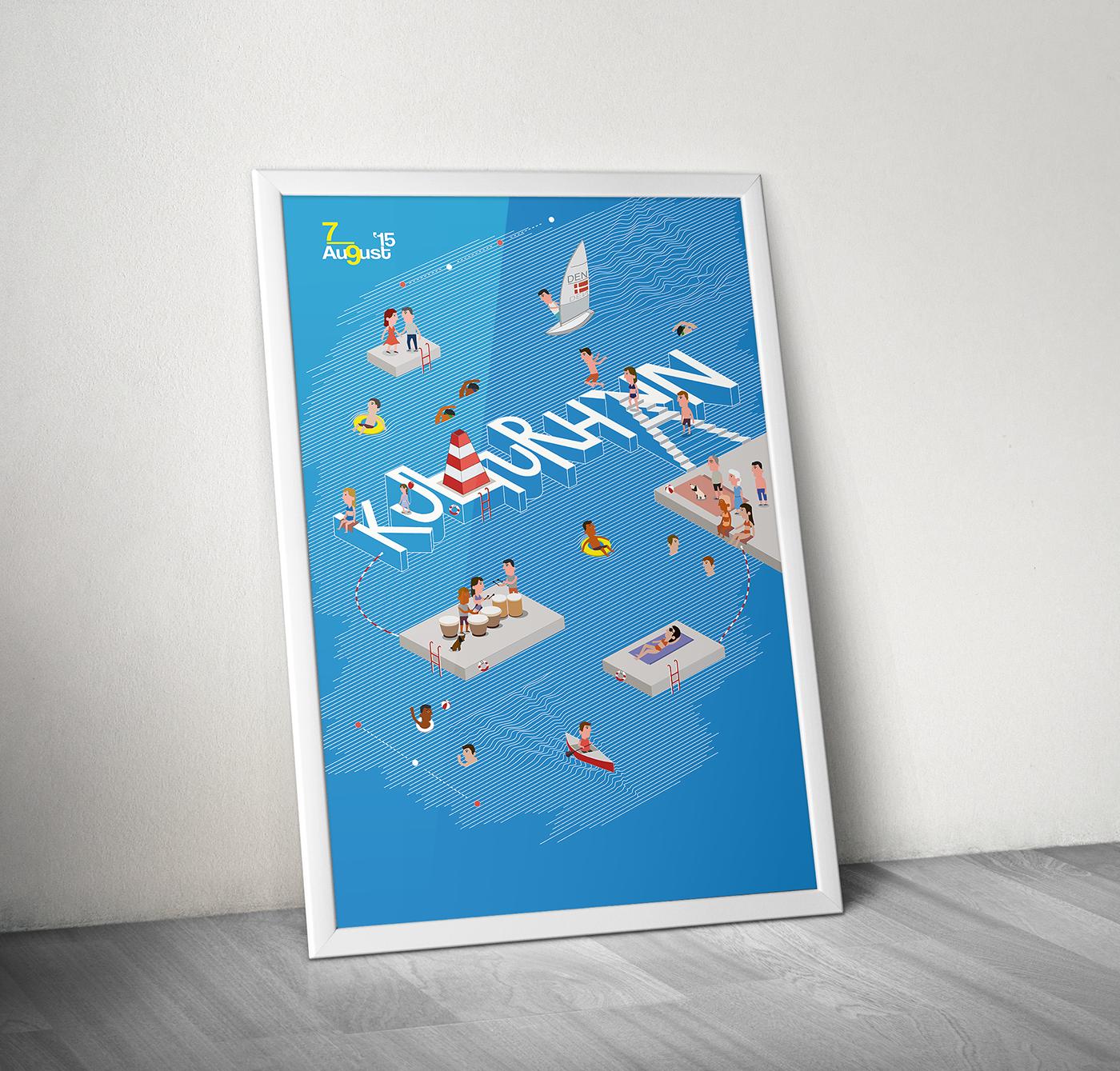 poster Kulturhavn Competition copenhagen harbour sea festival august 2015 denmark