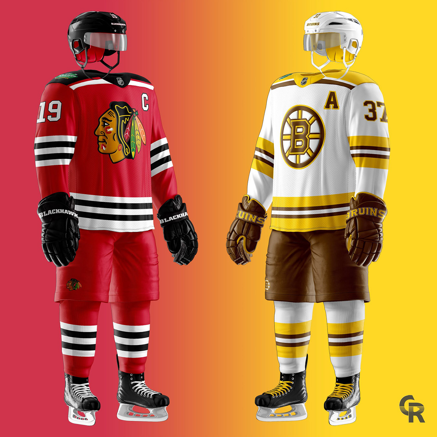 Blackhawks-Bruins Winter Classic Concept on Behance ff89478aeb8