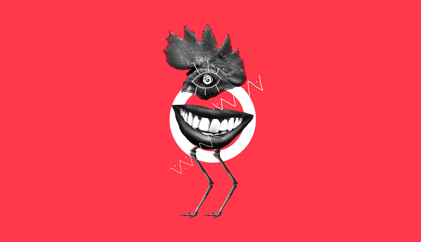 freak freakies abstract collage Character creature