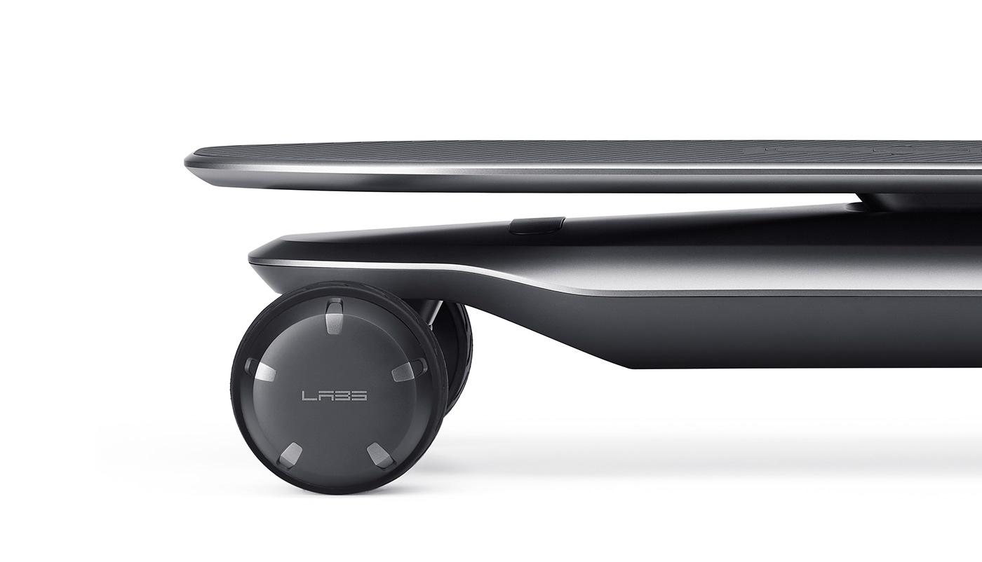 VLND Industrial Design Studio designed PLMM Electric Skateboard.