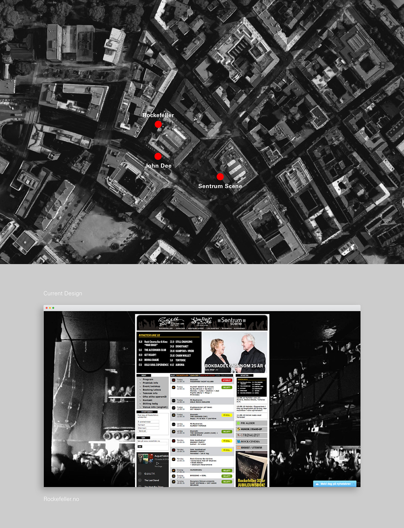 Rockefeller Oslo – Website Redesign on Behance