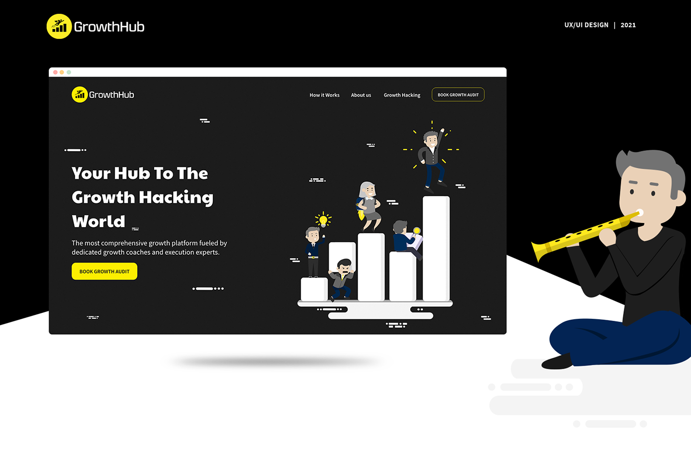 company website creative design growth mobile UI ux Character ILLUSTRATION  interaction