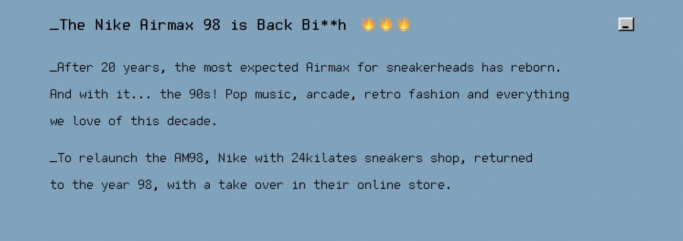 Nike airmax Website Retro Glitch 24kilates 3D still life sneakers