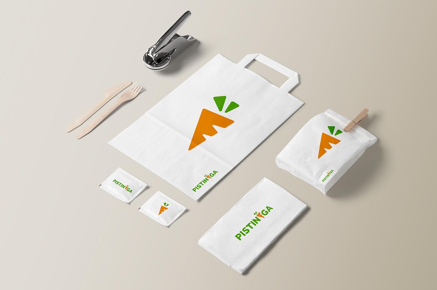juicebar fruitbar bar carrot logo brand design Stationery bologna brand identity corporate Logotype