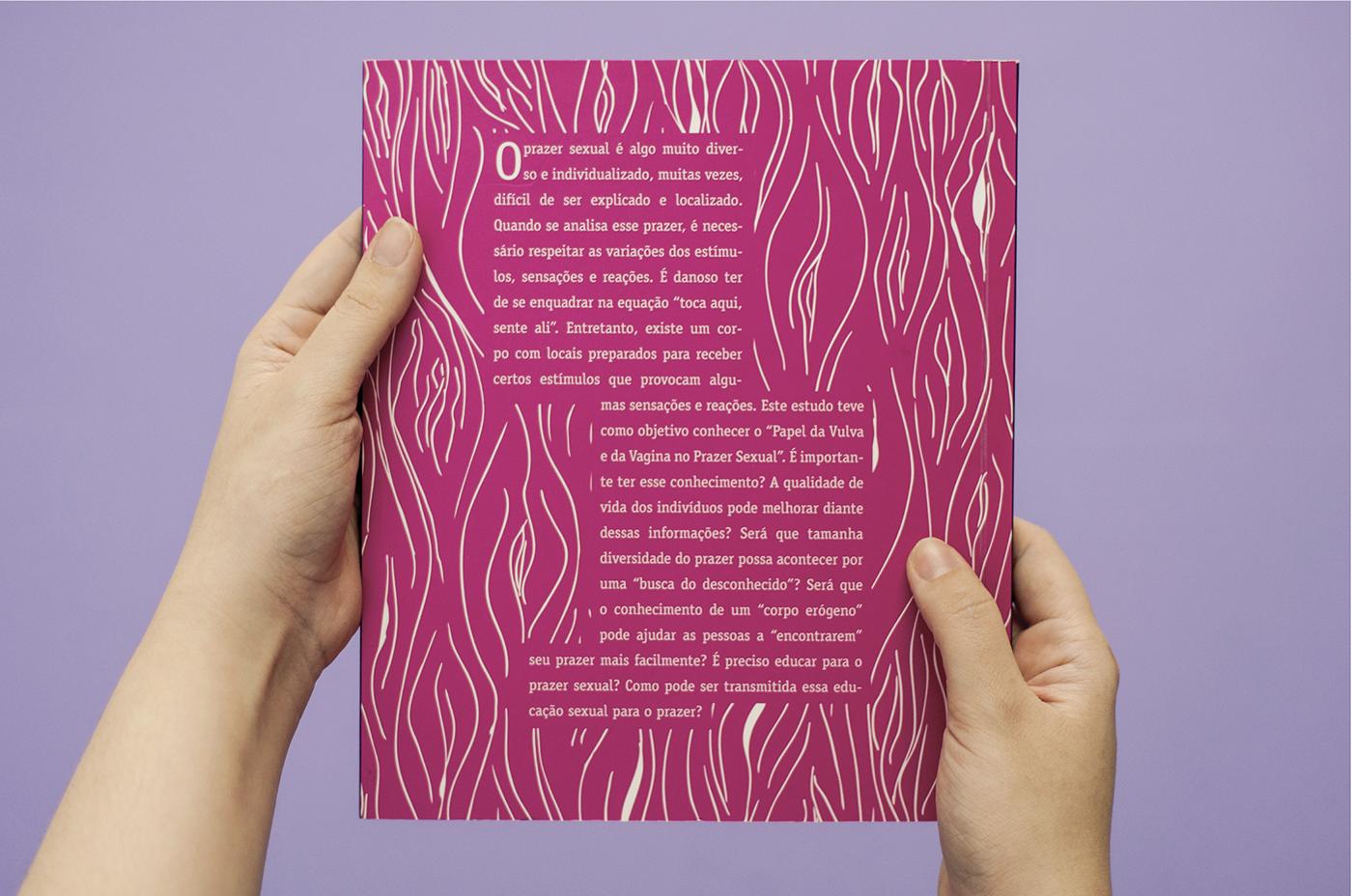 sexo vulva vagina editorial design  CMYK design editorial sexual prazer