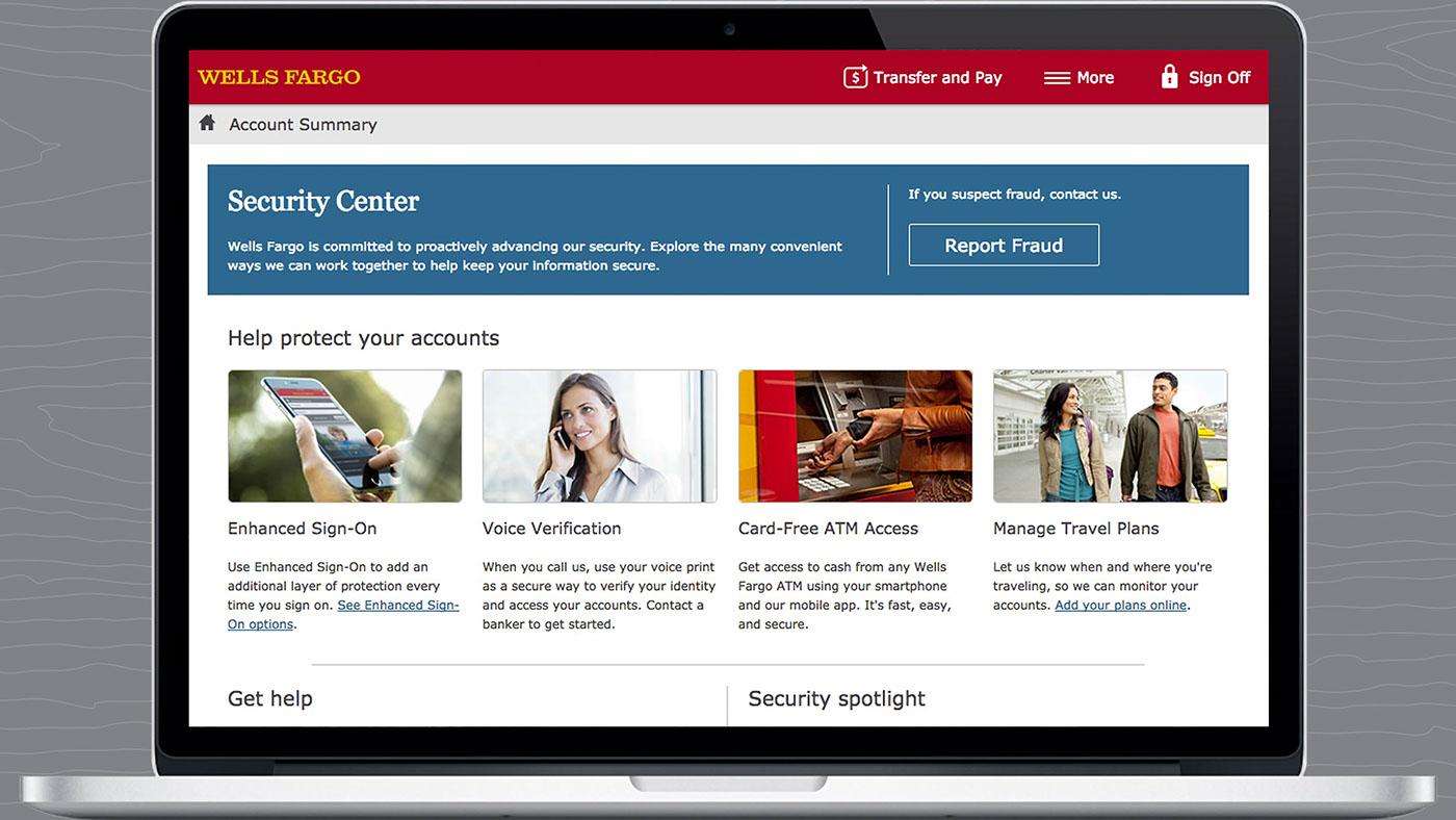 Wells Fargo Security Center on Behance