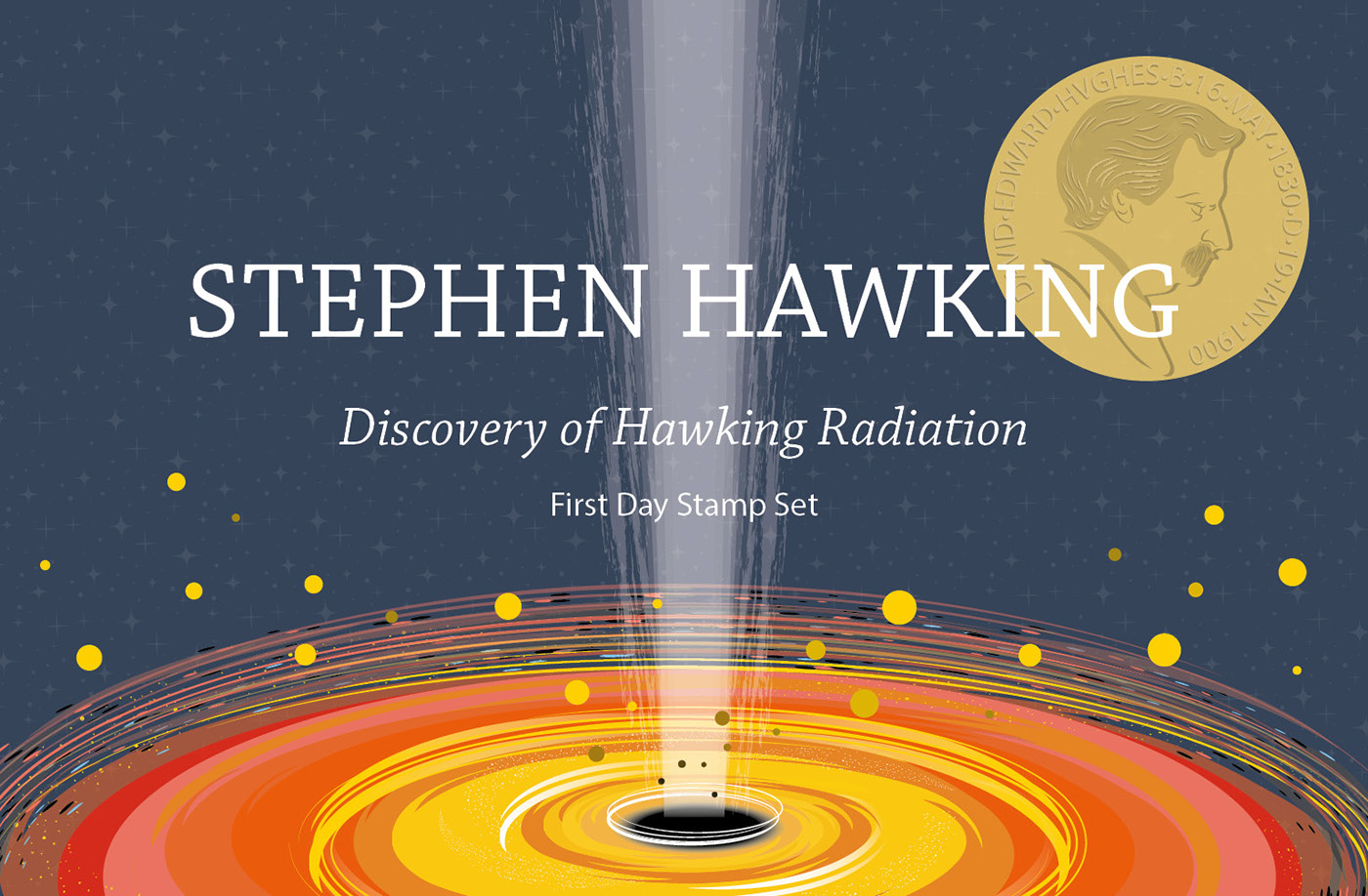 First Day Stamp Set: Hawking Radiation on Behance