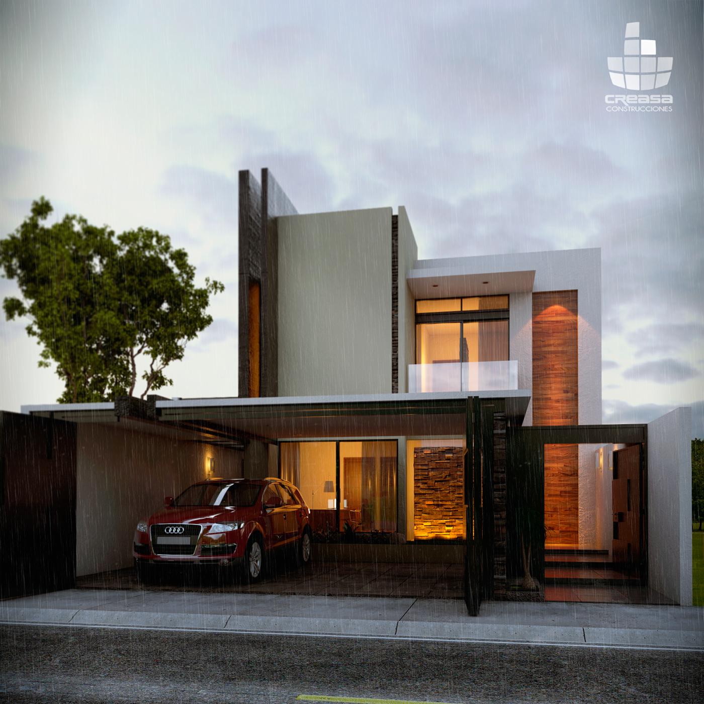 1025 on behance for Construcciones minimalistas