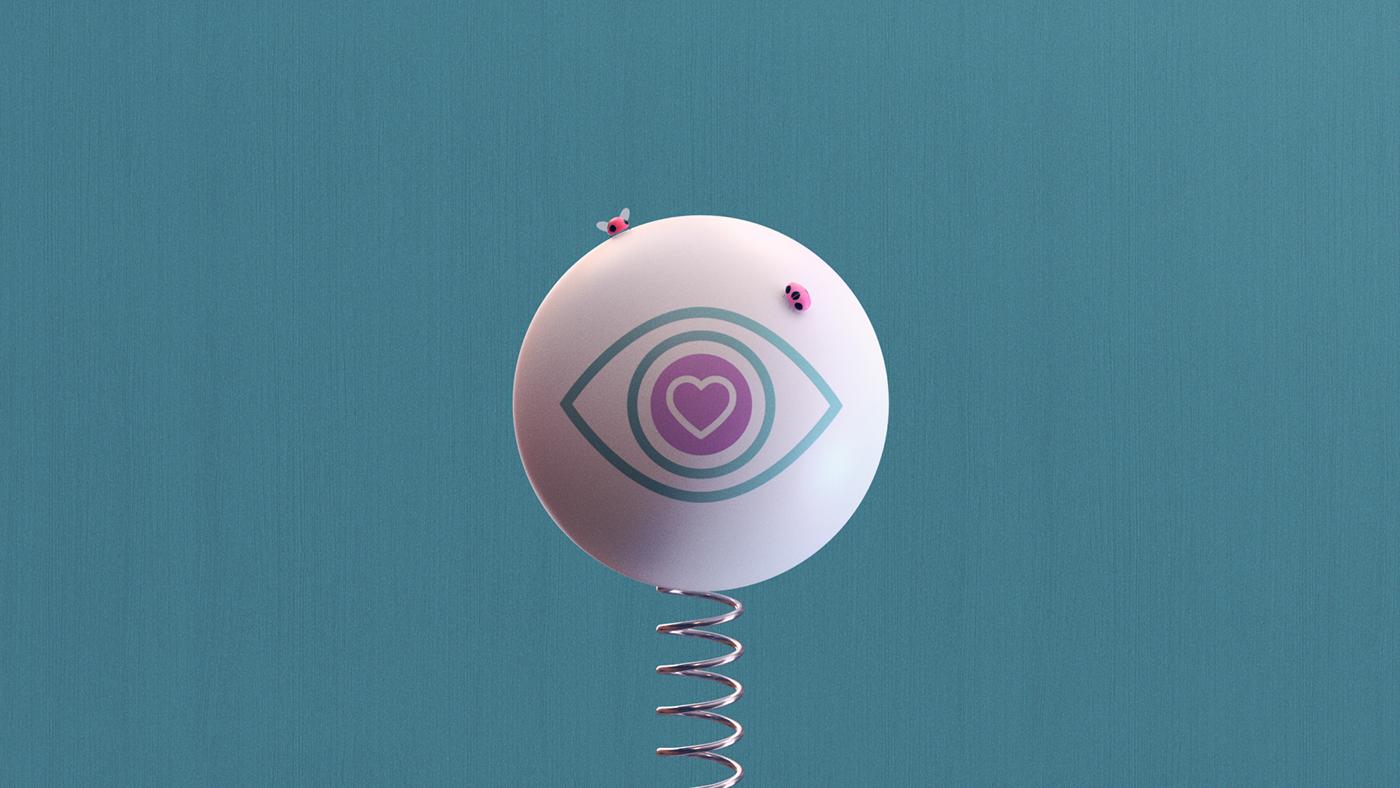 3D animation  art direction  Playful Smart minimalsitic clean colors