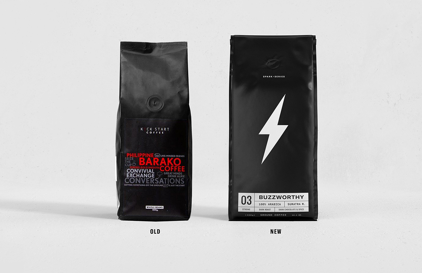 bold branding  Coffee design energy identity noir Packaging visual identity