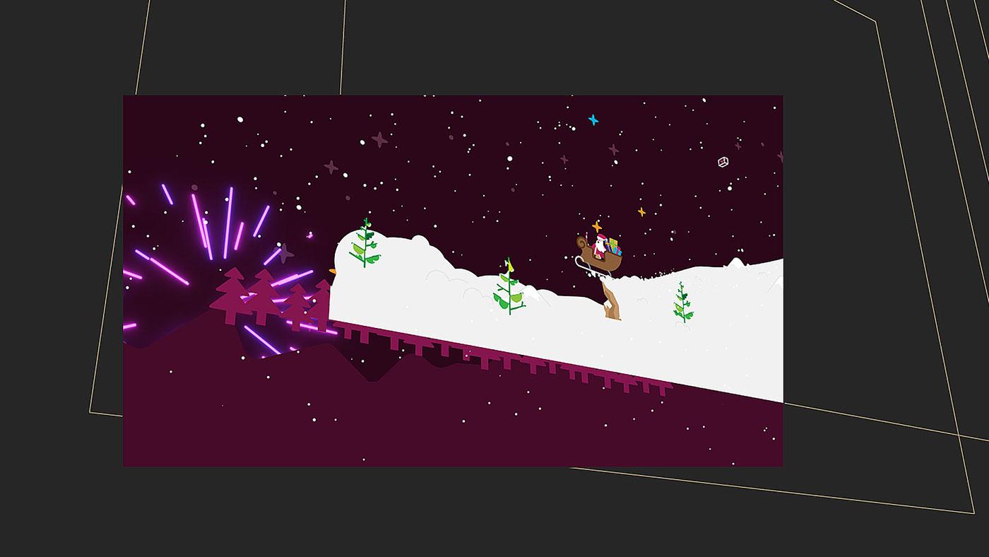 TVN7 animation  2D flat Christmas xmas