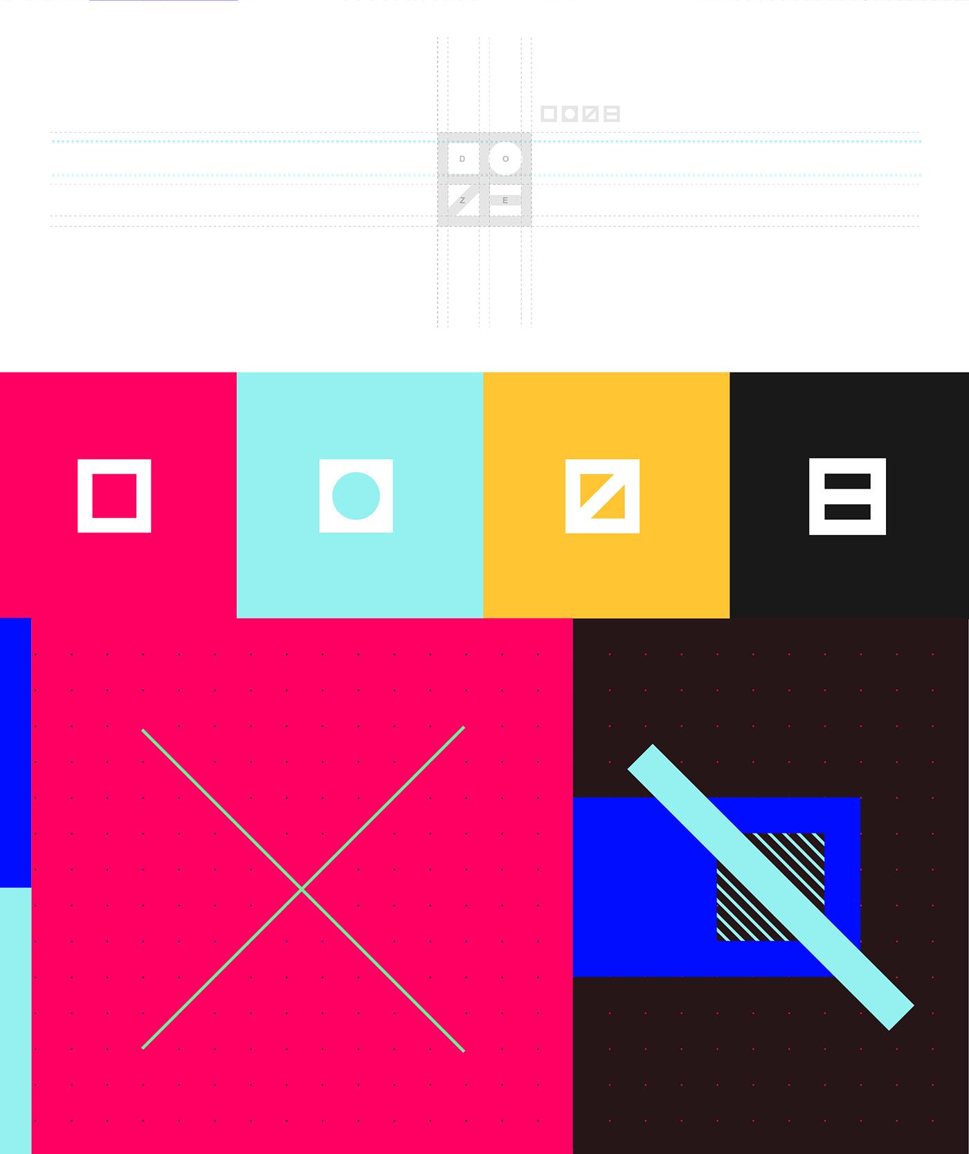 Rebrand design motion graphic logo