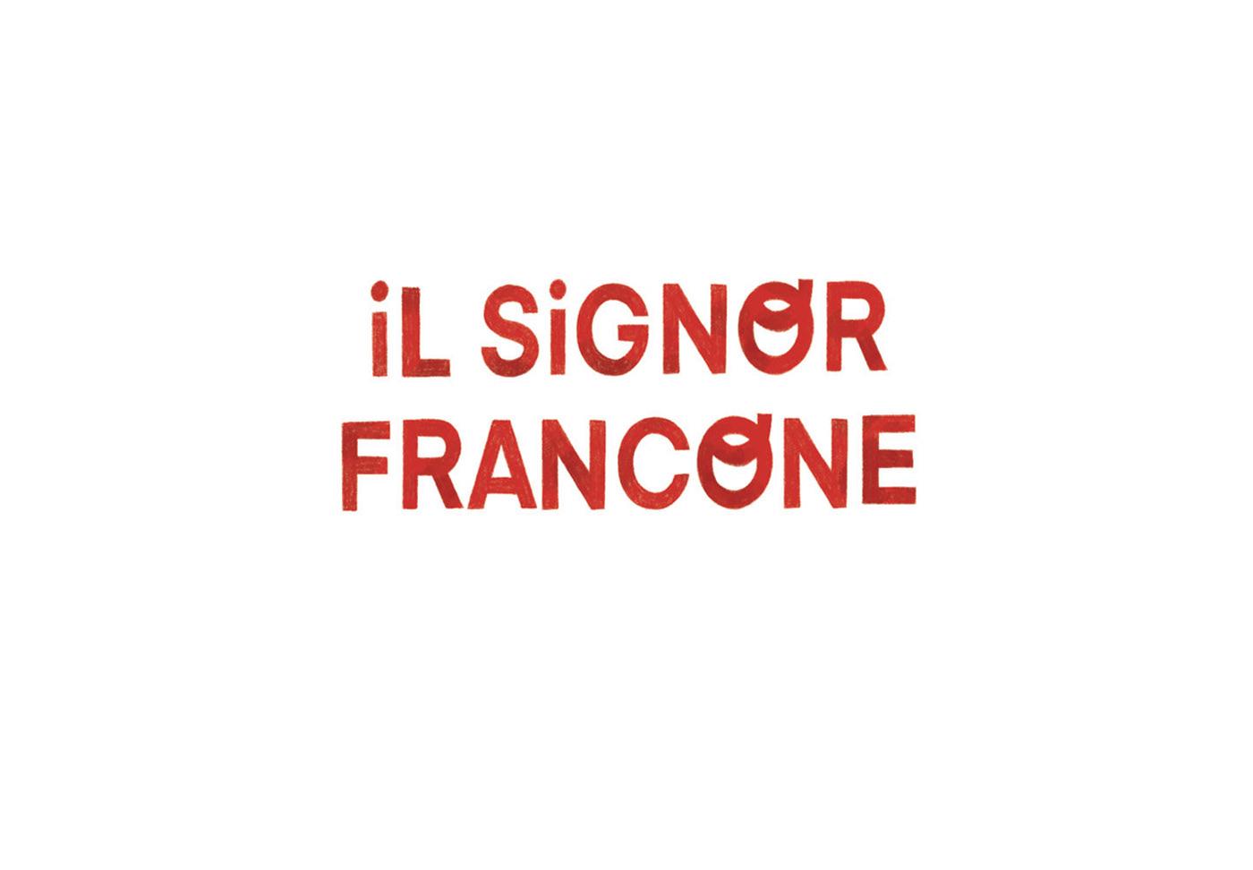 Studies based on the novel 'Il signor Francone' by Simona Toma.