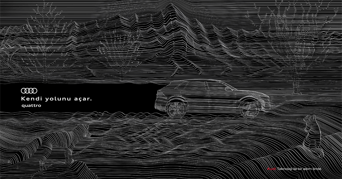 art Audi contemporaryistanbul   design Glitch istanbul lineart motion quattro