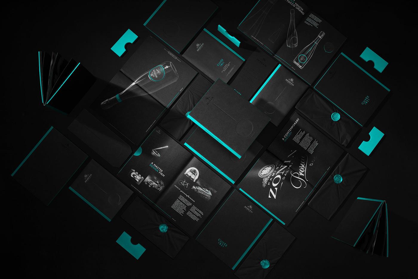 graphic design  Happycentro Invitation paper Photography  Prosecco video wine zonin