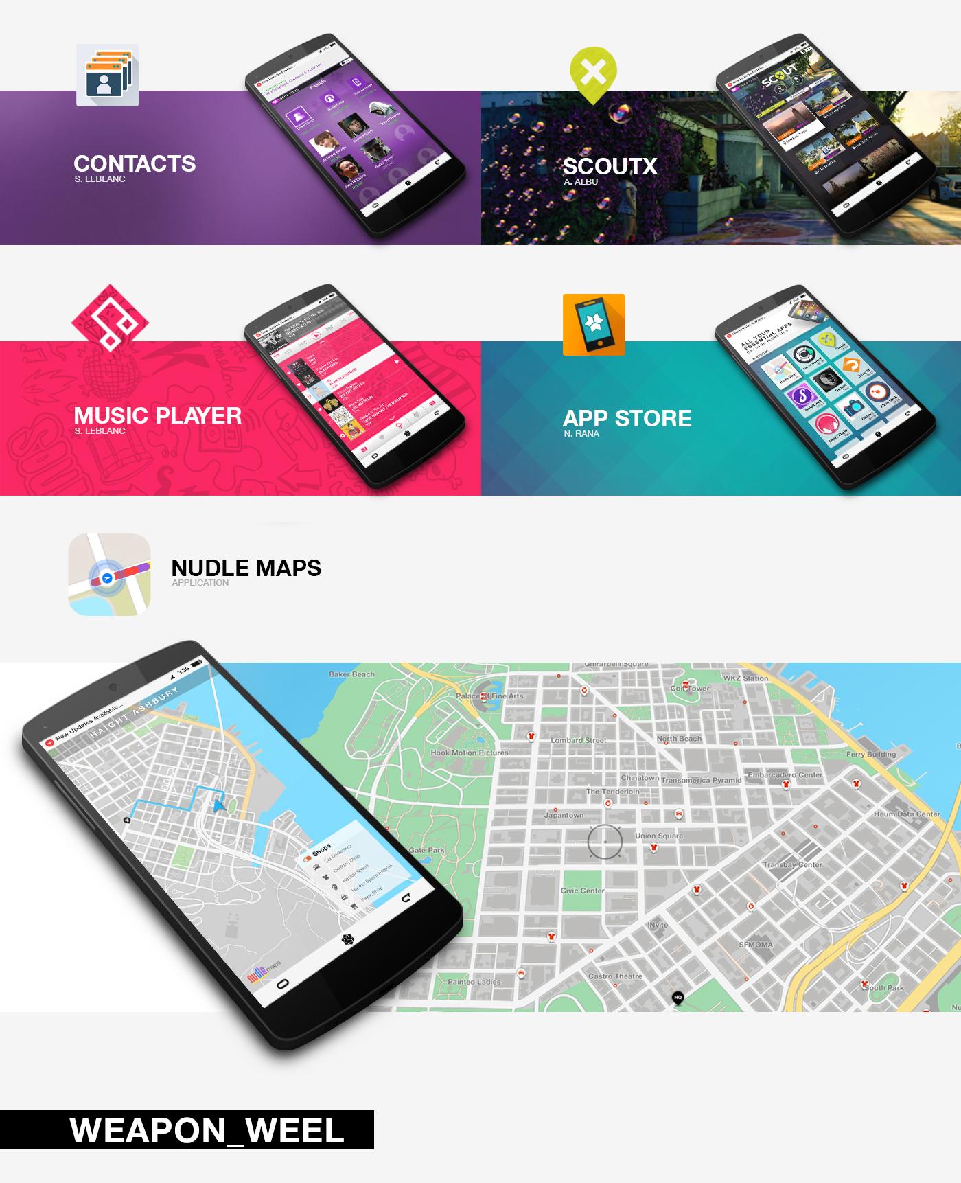 Watch Dogs 2 game UI design video game ux graphic design  art game design  ubisoft