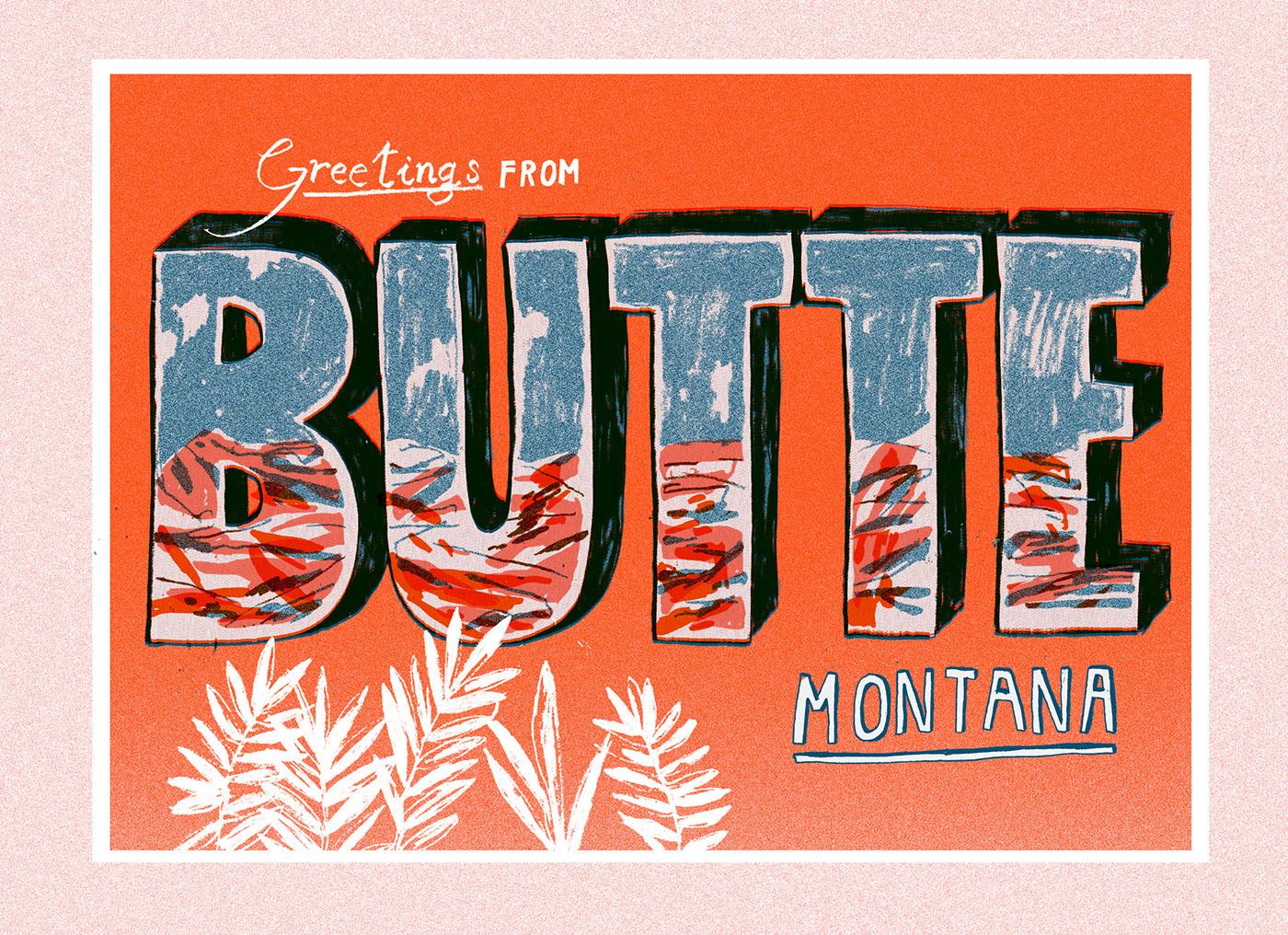 Montana girl adventure butte geese pantone berkeley orange blue